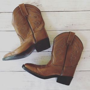 ACME Unisex Brown Leather Western Boots